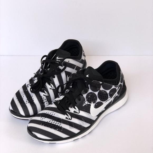 Nike Nwot 5 Free Black White Polka Dot